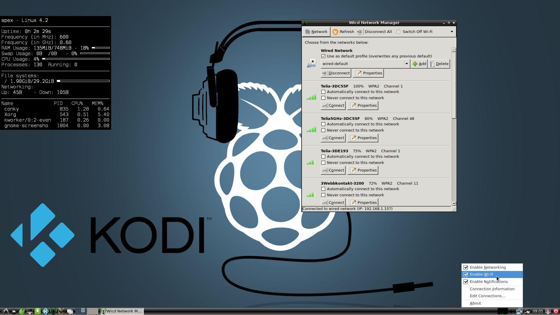 RaspEX Kodi Rpi3 with LXDE/OSMC Desktops and Kodi 18 RC5
