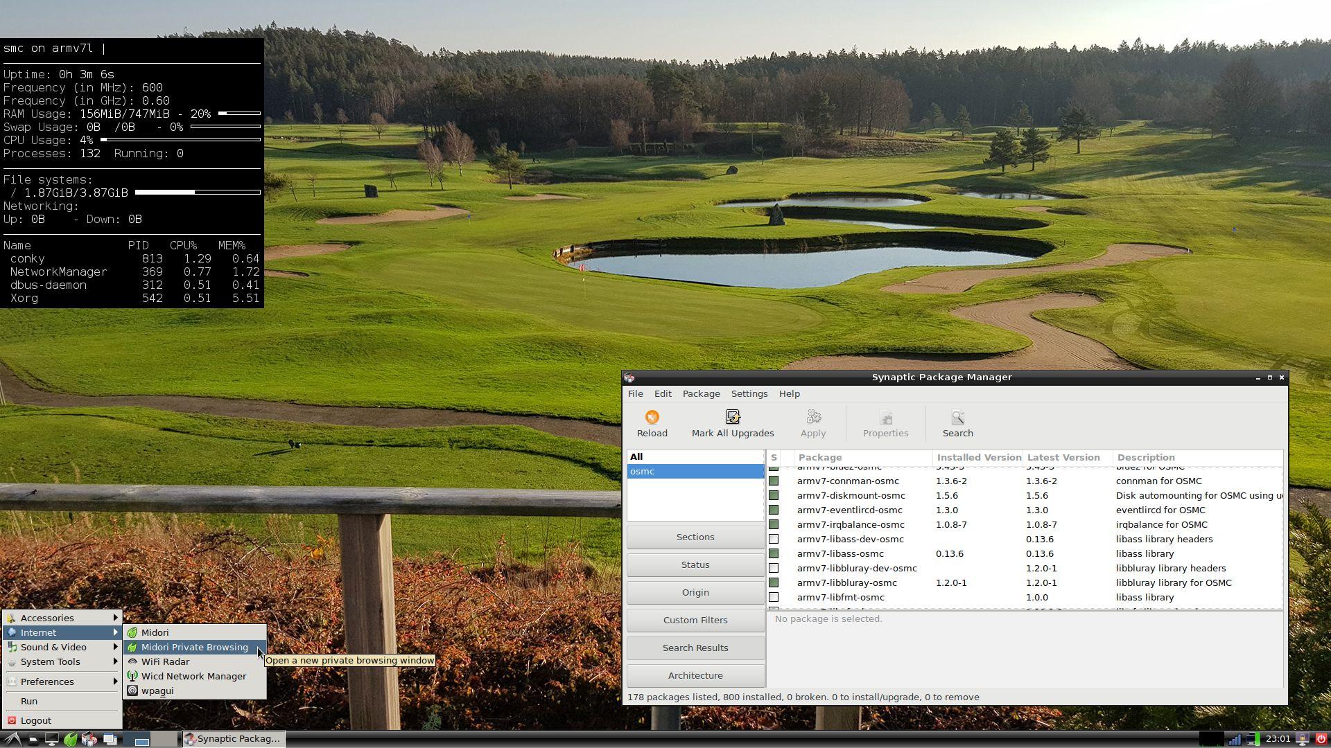RaspEX OSMC Rpi3 with LXDE Desktop and Kodi 18 Media Center