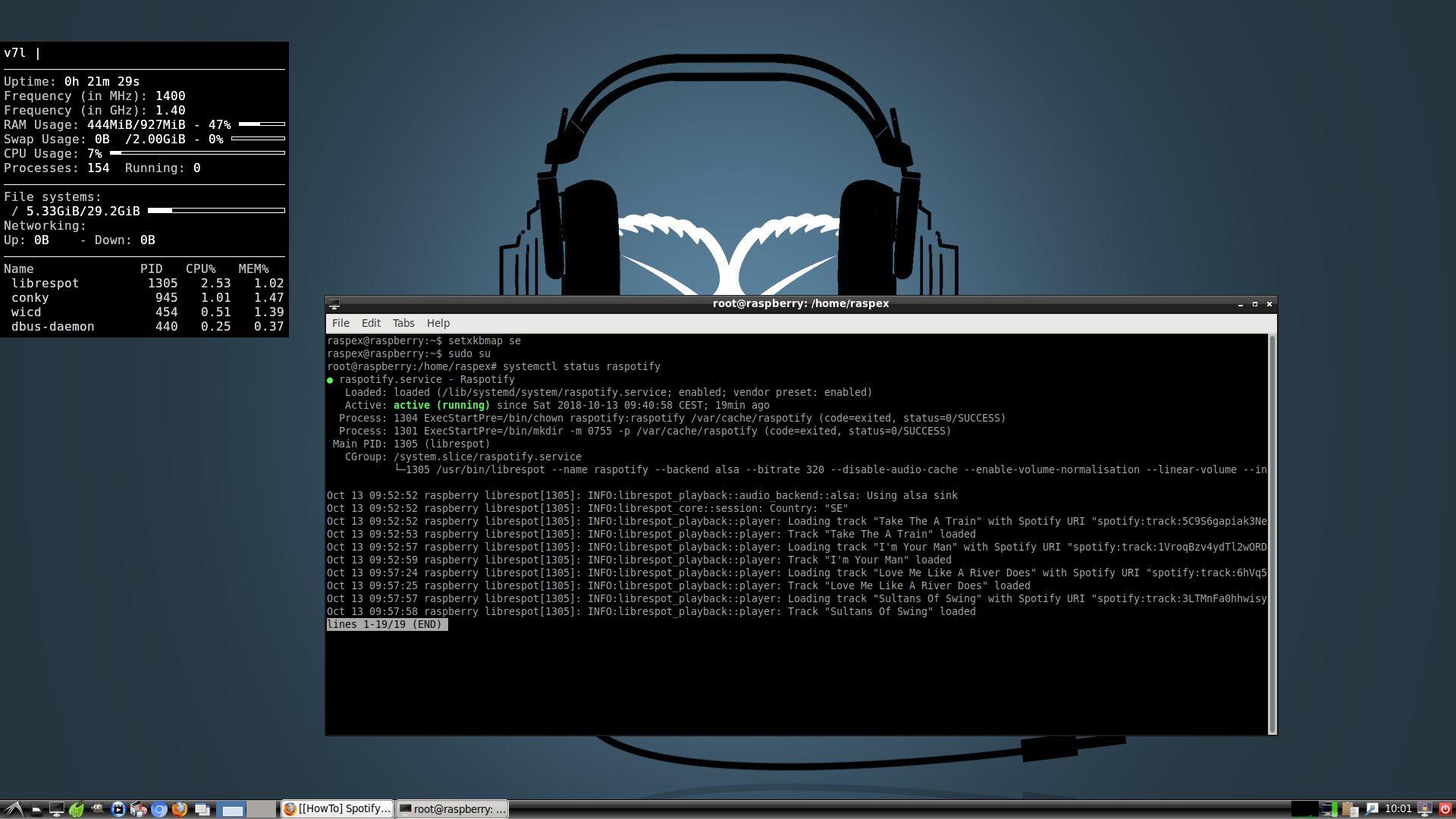 Raspotify | Exton Linux | Live Systems